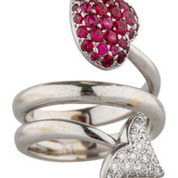 Christian Dior Hearts and Arrow Ring
