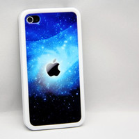 Galaxy apple logo  iPhone 4 / 4S Case,iPhone 5 / 5S / 5C Case,Rubber case and Hard Cover