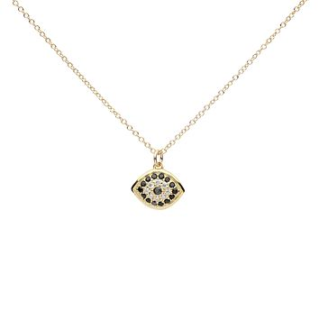 CZ Black Evil Eye Necklace