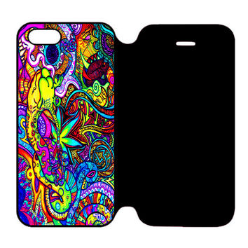 Abstract Trippy Art For iPhone 5 | 5S Flip Case
