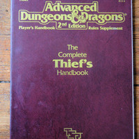 1989 Advanced Dungeons and Dragons Complete Thief's Handbook.  TSR Inc