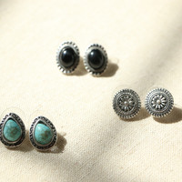 Bohemian stud earrings