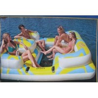 Amazon.com: Intex Oasis Inflatable Island Seats 4 People with Mesh Floor and Step Ladder: Toys & Games