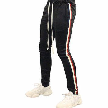 Madison Taped Track Pants (Black)