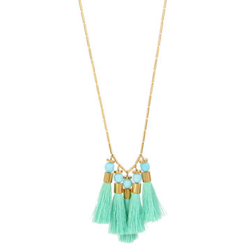 5 Tassel Necklace, Mint