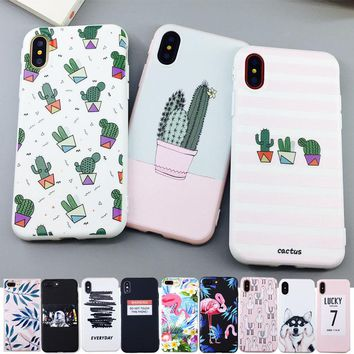 Candy Color Art Leaf Print Phone Case