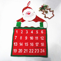 Santa Claus Christmas Decoration Countdown Calendar Banner Decoration Xmas Gifts Ornaments Home Decor = 1945810180