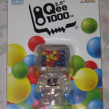 "Toy2R 2008 Qee Key Chain Collection 1000th Clear Ver 3"" Figure"