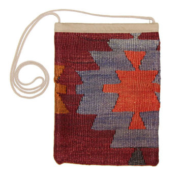Veola Multi Diamond Pattern Kilim Bag