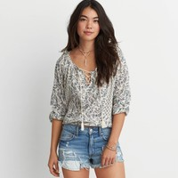 AEO Bubble Peasant Top