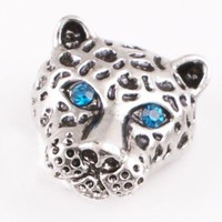 Blue Eye Leopard-Cat Charm 20mm for Snap Jewelry