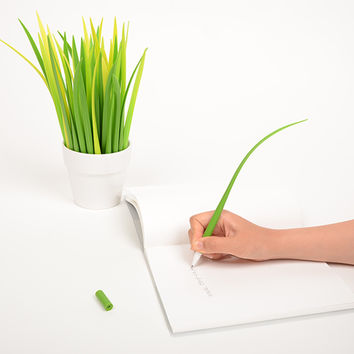 Grass Leaf Pen (yellow)