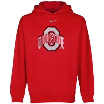 Nike Ohio State Buckeyes Youth Scarlet Classic Logo Pullover Hoodie Sweatshirt - http://www.shareasale.com/m-pr.cfm?merchantID=7124&userID=1042934&productID=528452199 / Ohio State Buckeyes