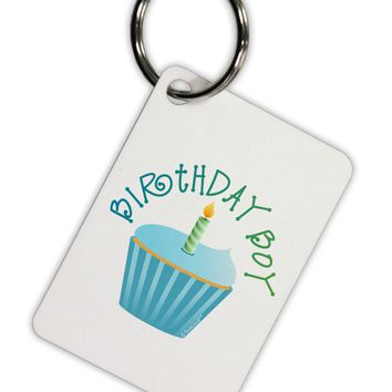 Birthday Boy - Candle Cupcake Aluminum Keyring Tag by TooLoud