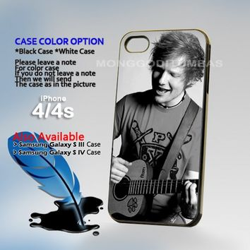 Ed Sheeran Vintage Photo On Hard Plastic iPhone 4 4S Case