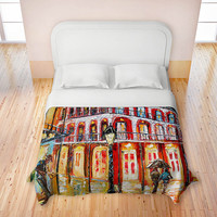 Artistic Duvet Covers by DiaNoche Designs, New Orleans French Quarter