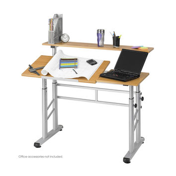 Safco Height Adjustable Split Level Office Desk/ Drafting Table | Overstock.com Shopping - The Best Deals on Drafting Tables