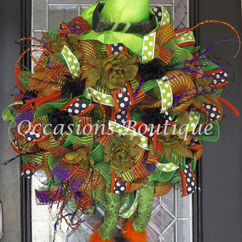 Limited Availability! Halloween Wreath, Wicked Witch Wreath, Front door wreaths, Wreath for door, RAZ,  Pre-Order