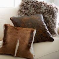 Old Hickory Tannery - Hairhide, Leather, & Sheepskin Accent Pillows - Horchow