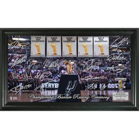 San Antonio Spurs 2014 NBA Champions inBanner Raisingin Signature Court