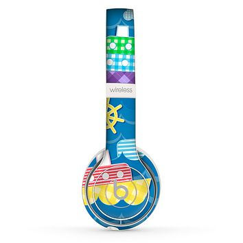 The Cartoon Ships and Submarines Skin Set for the Beats by Dre Solo 2 Wireless Headphones