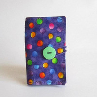 Business Card, Credit Card ID Holder, Bright Dots