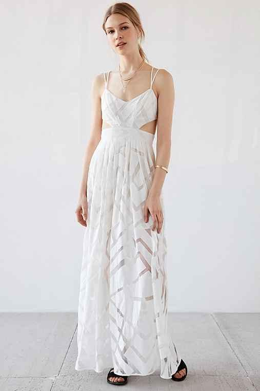 178af4c648a228 Silence + Noise Savannah Geo Mesh Maxi from Urban Outfitters