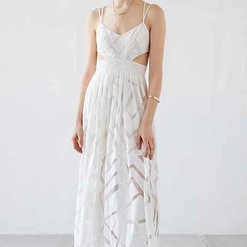 Silence + Noise Savannah Geo Mesh Maxi Dress