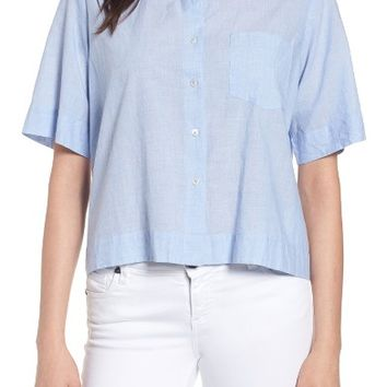 Velvet by Graham & Spencer Crop Camp Shirt | Nordstrom