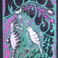 Modest Mouse Concert Boulder Concert Art Print - Concert Memorabilia - 11x17 Poster, Vibrant Color, Features Isaac Brock, Jeremiah Green and Eric Judy.