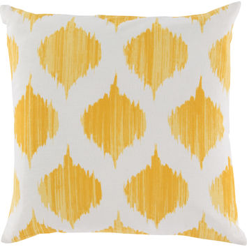 Surya Ogee Throw Pillow Yellow, Neutral