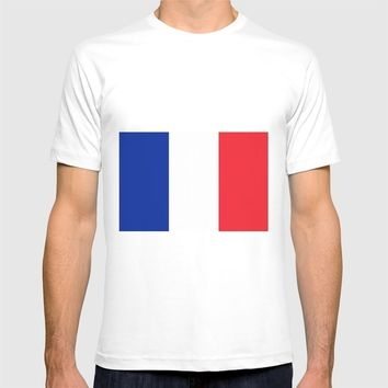 France Flag T-shirt by Henrik Lehnerer