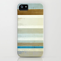 Blue and Brown Abstract Art Painting iPhone & iPod Case by T30 Gallery