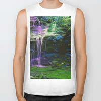 Waterfalling Biker Tank by Aclements
