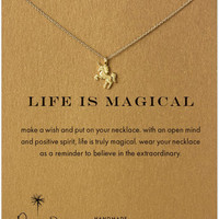 Dogeared Life Is Magical Unicorn Reminder 18 Boxed Necklace - Gold Dipped