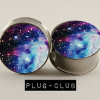 Star Bright Galaxy Plugs by Plug-Club