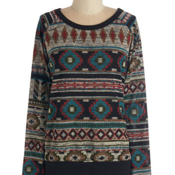ModCloth Mid-length Long Sleeve Since You Been Calm Sweater
