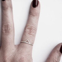 Silver Spike Ring, Thin Silver Spike Ring