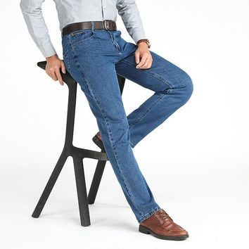 Straight Jeans Man Middle-Aged Denim Jeans C