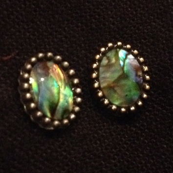 Small Abalone Shell plugs gauges earrings pair