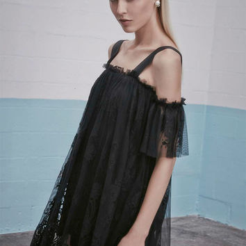 Alexis Hyde Lace Dress in Black Lace