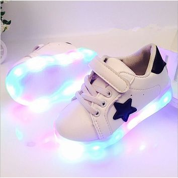 New Arrived Autumn Yeezy Shoes Colorful LED Shoes Children Heelies For Kid Sneaker Cas