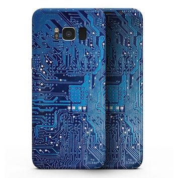 Blue Cirtcuit Board V1 - Samsung Galaxy S8 Full-Body Skin Kit