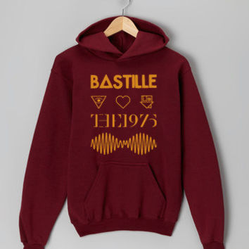 artic monkey bastile the 1975 maroon hoodie for men and women
