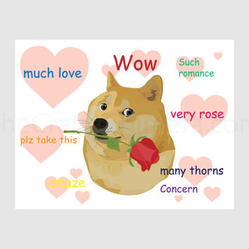 Romantic Doge Printable Card