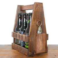 Wooden Beer Caddy - Beer Caddies - 6 Pack Carrier - Fish Bottle Opener - Beer Gift - Best Man - Gift For Him - Beer Carrier - Home Brewer