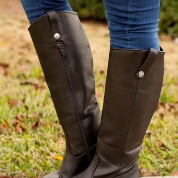 Ridin' High Riding Boot - Black