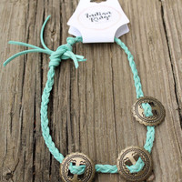 Hollie Turquoise Tri Concho Choker