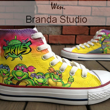 Teenage Mutant Ninja Turtles Shoes Studio Hand Painted Shoes 54 Usd,Hand Paint On Custom Converse Shoes Only 89Usd,Get One IPhone Case Free