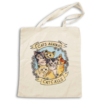 Cats Against Catcalls -- Tote Bag